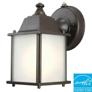 Hampton Bay Wall Mount 1 Light Outdoor Oil Rubbed Bronze Dusk to Dawn Lantern BPM1691P