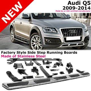 2009 to 2014 Audi Q5 09 14 Stainless Steel Running Board Side Steps Nerf Bars Gunmetal Black Color Automotive