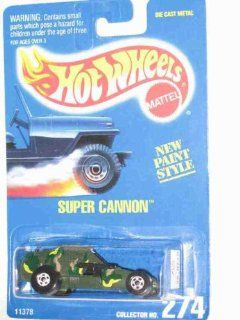 #274 Super Cannon Basic Wheels White Collectible Collector Car Mattel Hot Wheels 164 Scale Toys & Games