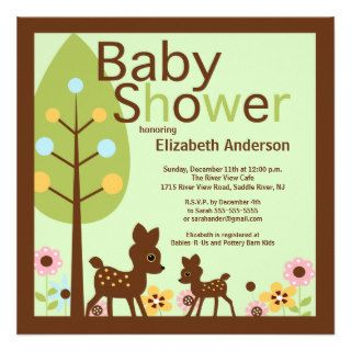Baby Deer Gender Neutral Baby Shower Invitation