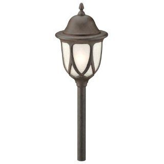 Intermatic CL305OB Malibu Low Voltage 11 Watt Metal Garden Light, Oil Rubbed Bronze with Frosted Crackle Globe   Perimeter Lighting