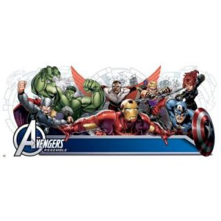 Avengers Assemble Personalization Headboard Peel and Stick 108 Piece Wall Decals RMK2240GM