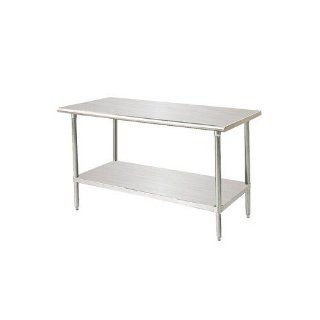 "Advance Tabco MS 309 30"" X 108"" Stainless Steel Commercial Work Table W/ Stainless Steel"
