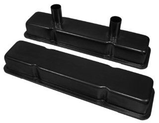1958 86 Chevy Small Block 283 305 327 350 400 Circle Track Racing Steel Valve Covers   Black Automotive