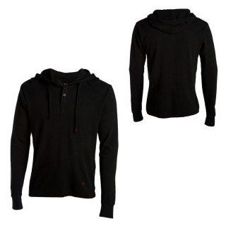 Fallen Vista Hooded Henley Shirt   Men's Clothing