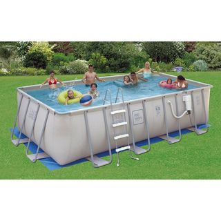 PRO Series Rectangular 52 inch Deep Swimming Pool Kit Swim Time Above Ground Pools