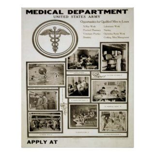 United States Army Medical Department Posters