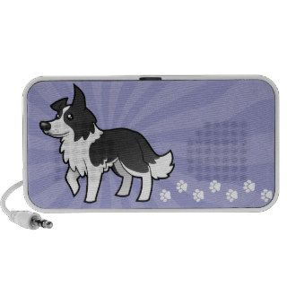 Cartoon Border Collie Notebook Speaker