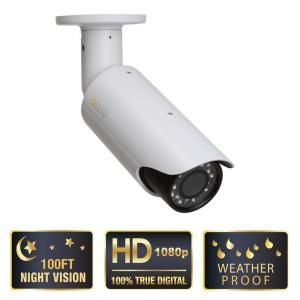 Q SEE Platinum Series Wired 1080p Indoor/Outdoor Hi Definition Weatherproof Bullet Camera QCN8002B