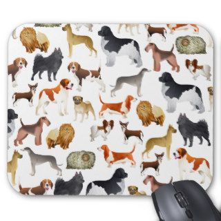 Cute Pedigree Pet Dog Wallpaper Design Mouse Pads