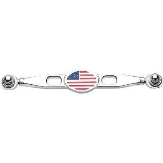 Landmark Billet Shift Linkage   Flag   Chrome LM301 9CH Automotive