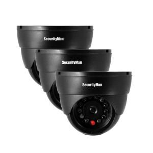 SecurityMan Indoor Dome Dummy Security Camera (3 Pack) SM 320S 3PK