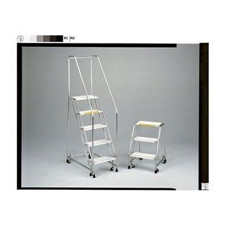 Ballymore Tough Aluminum Ladder with Spring Loaded Caster   3 Step, 20 x 25 inch    1 each. Stepladders