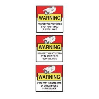 "Video Security Survellience Window/Door Home Security Warning Decals 3""x3"""