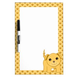 Kawaii Cute Labrador Retriever Puppy Dog Cartoon Dry Erase Board