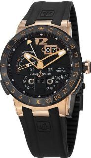 Ulysse Nardin El Toro Men's Black Rubber Strap Automatic Perpetual Calendar Rose Gold Watch 326 03 3 Ulysse Nardin Watches