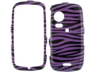 Design Plastic Phone Protective Cover Case Purple and Black Zebra For Samsung Instinct HD S50 Cell Phones & Accessories