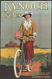 WOMAN RIDING KYNOCH BICYCLE BIKE CYCLES VINTAGE POSTER CANVAS REPRO   Prints