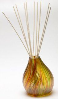 Kitras Art Glass   REED DIFFUSER   AUTUMN LEAVES   Aromatherapy   Feather Ball Pattern  Hand Blown Art Glass Ornament  TT DIFF 06 AL Health & Personal Care