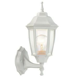 Hampton Bay 1 Light Outdoor White Dusk to Dawn Wall Lantern BPP1611 WHT