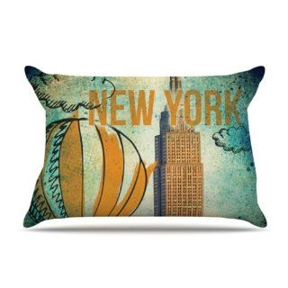 Kess InHouse iRuz33 NYC 30 by 20 Inch Pillow Case, Standard   Pillowcases
