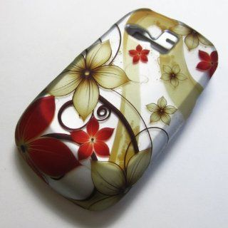 Rubberized Hard Phone Case Cover Skins Snap on Faceplate Protector for Samsung Sch r355c Sch r351c Sch r350 R351 Freeform I / 1 Straight Talk Straight Talk Net10 Tracfone  Alltel Metro Pcs Cricket / Yellow Flower RED (Wholesale Price) Cell Phones &