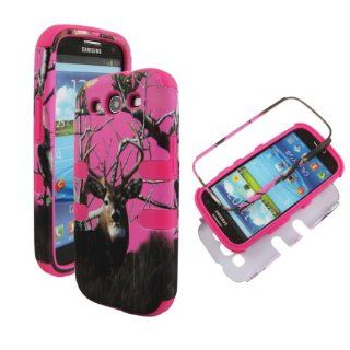 Camoflague Pink Black Deer Faceplate Hard Case Protector for Sprint Samsung Galaxy S3 Sph l710 Cell Phones & Accessories