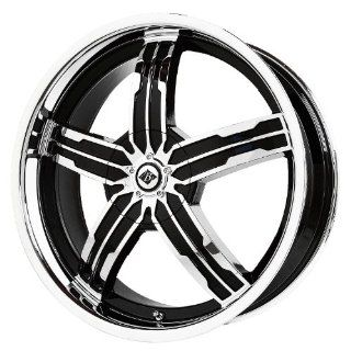 "Black Ice Alloys Sigma Black/Chrome Wheel with Spokes and Lip (20x7.5""/5x4.5"") Automotive"