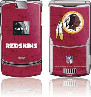 NFL   Washington Redskins   Washington Redskins Distressed   Motorola RAZR V3   Skinit Skin Cell Phones & Accessories