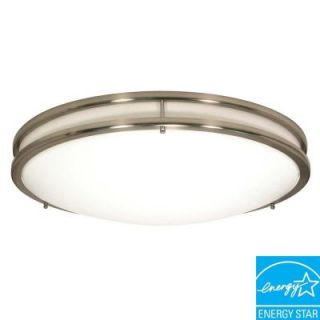 Glomar Glamour 3 Light Flush Mount Brushed Nickel Ceiling Dome HD 901