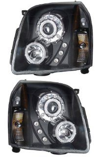 GMC YUKON/XL/DENALI/XL DENAL 07 10 PROJECTOR HEADLIGHT HALO BLACK CLEAR CCFL NEW Automotive