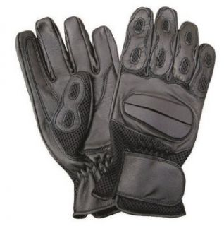 Allstate Leather Unisex Adult AL3026 Full finger glove XX Large Black Clothing