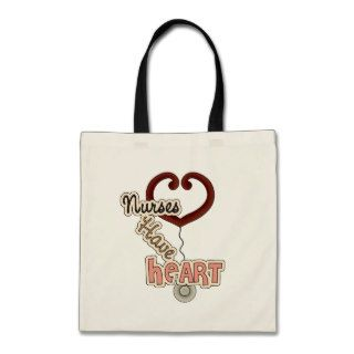 Stethoscope Nurses Have Heart T shirts and GIfts Canvas Bag