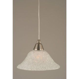 Toltec Lighting 22 BN 431 One Light Cord Mini Pendant, Brushed Nickel Finish with Italian Bubble Glass   Ceiling Pendant Fixtures