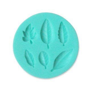 TANGCHU Leaves Shape Silicone Mould Fondant Cake Decorating Baking Tool 4.1*4.1*0.39inch Green Kitchen & Dining
