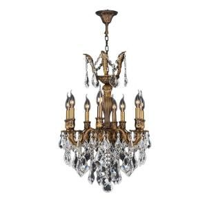 Worldwide Lighting Versailles Collection 8 Light Crystal and Antique Bronze Chandelier DISCONTINUED W83334B19