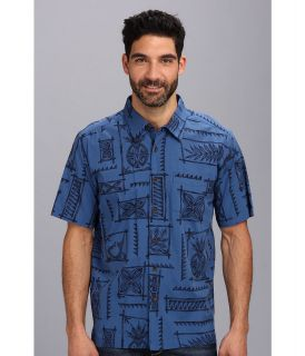 Quiksilver Waterman Olomana S/S Shirt Mens Short Sleeve Button Up (Blue)