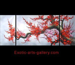 Japanese Cherry Blossom HUGE Abstract Art Canvas Wall Art Hand Painted Ready to Hang 439   Oil Paintings
