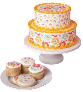 Duff Goldman by Gartner Studios Edible Cake Art, Floral, 0.49 Ounce (Pack of 3)  Pastry Decorations  Grocery & Gourmet Food