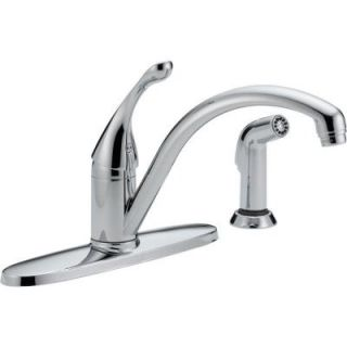 Delta Collins Single Handle Side Sprayer Kitchen Faucet in Chrome 440 WE DST