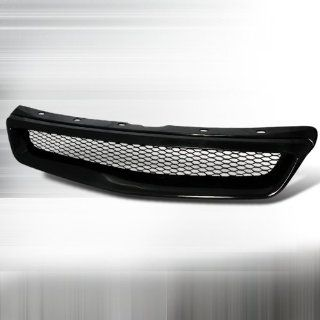 99 00 Honda Civic Front Hood Grill   Type R Black Automotive
