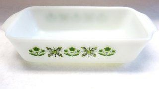 "Vintage Anchor Hocking Fire king ""Meadow Green"" Meat Loaf Pan Baking Dish (#441)"