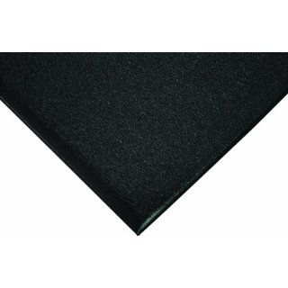 "Wearwell PVC 444 Deluxe Soft Step Light Duty Anti Fatigue Mat, for Dry Areas, 4' Width x 60' Length x 5/8"" Thickness, Black Floor Matting"