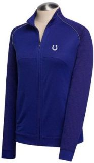 NFL Indianapolis Colts Women's CB DryTec Edge Full Zip Jacket, Tour Blue, Medium  Sports Fan Outerwear Jackets  Clothing