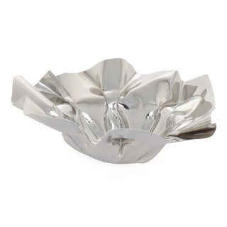 Torre & Tagus Crumpled Round Stainless Steel Bowl   Decorative Bowls