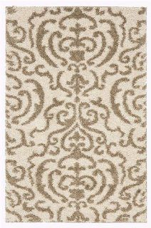 Safavieh Florida Shag Collection SG462 1113 Cream and Beige Shag Area Rug, 3 Feet by 5 Feet