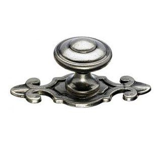 "Top Knobs M464PTA PTA Pewter Antique Cabinet Hardware 1 1/4"" Cabinet Knob W/Backplate   Cabinet And Furniture Knobs"