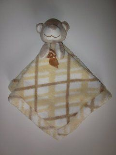 Blankets & Beyond Baby Baby Nunu Tan Yellow Bear Lovey Security Blanket   Nursery Blankets