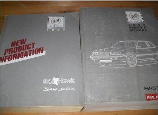 1989 Buick Skylark Factory Service Shop Manual SET OEM (service manual final edition, and the new product information manual) gm Books
