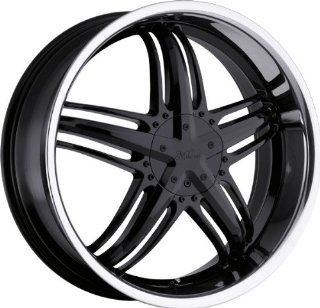 MILANNI   457 force   20 Inch Rim x 8   (5x4.25/5x4.5) Offset (38) Wheel Finish   gloss black with stainless steel lip Automotive